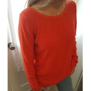 Old Navy Red Pullover Sweater with Envelope Back